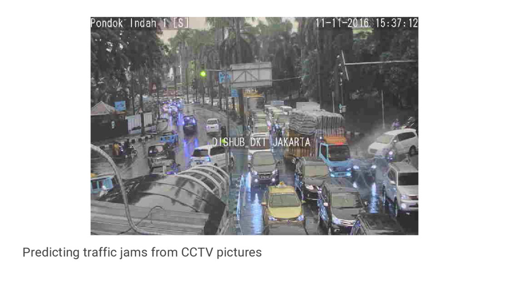 Predicting traffic jams from CCTV pictures