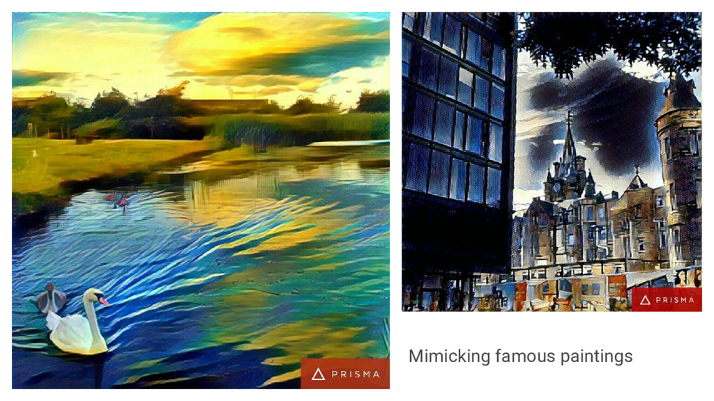Mimicking famous paintings