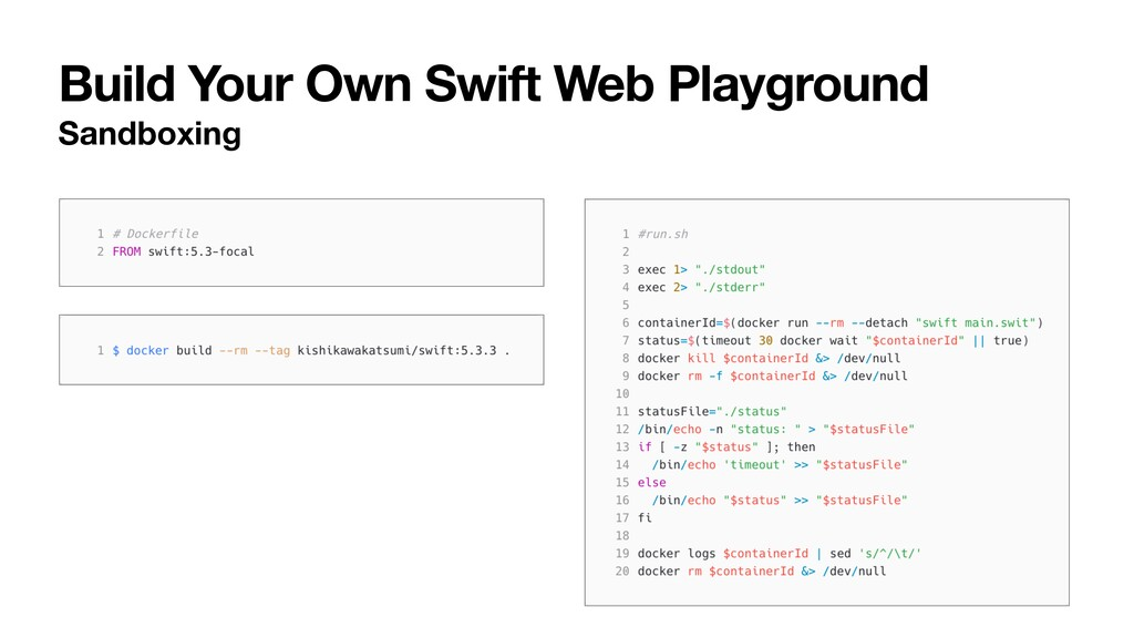 Build Your Own Swift Web Playground Sandboxing