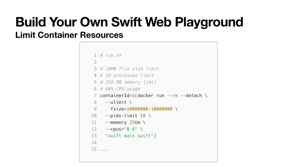 Build Your Own Swift Web Playground Limit Conta...