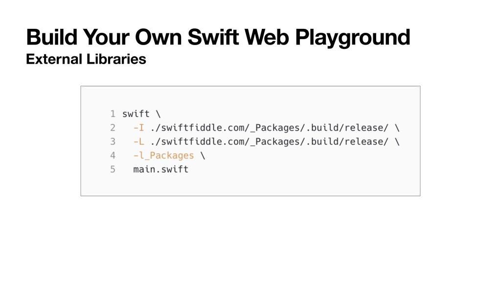 Build Your Own Swift Web Playground External Li...