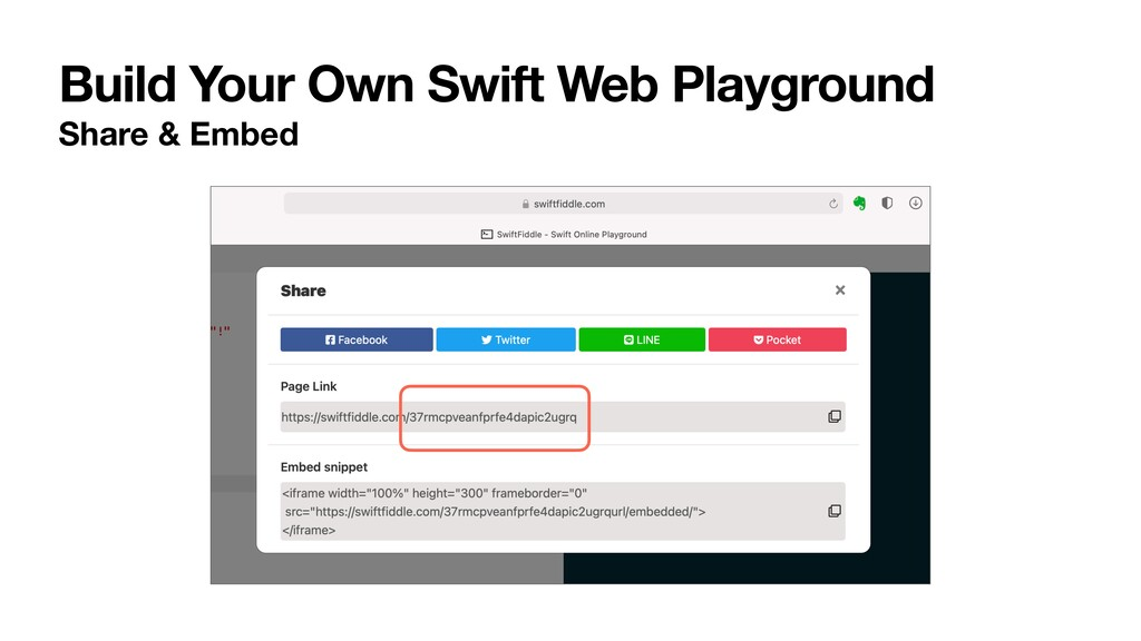 Build Your Own Swift Web Playground Share & Emb...