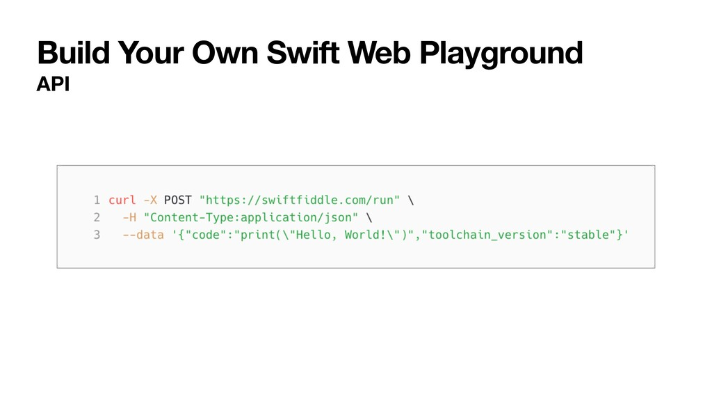 Build Your Own Swift Web Playground API