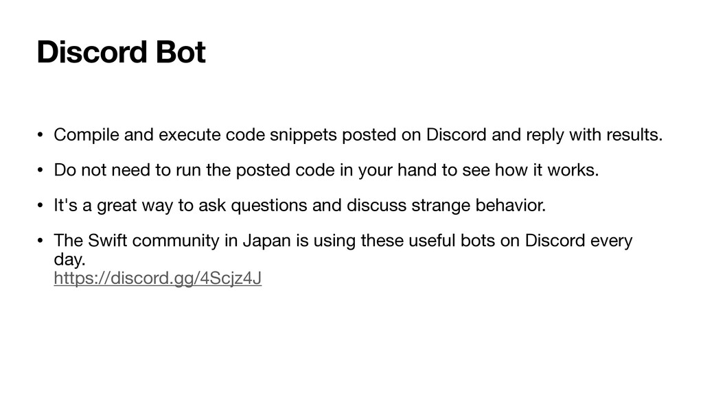 Discord Bot • Compile and execute code snippets...