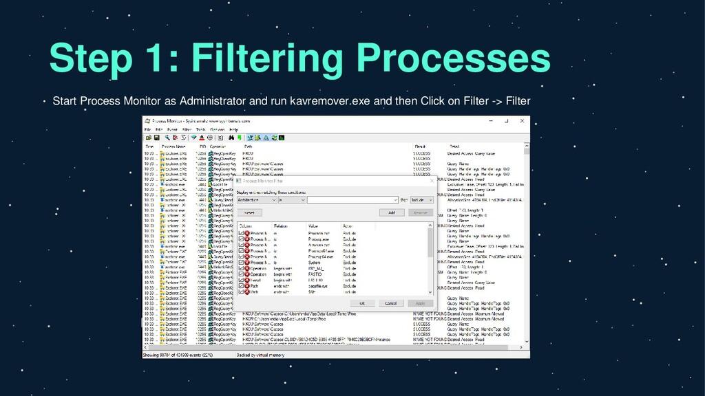 Step 1: Filtering Processes Start Process Monit...