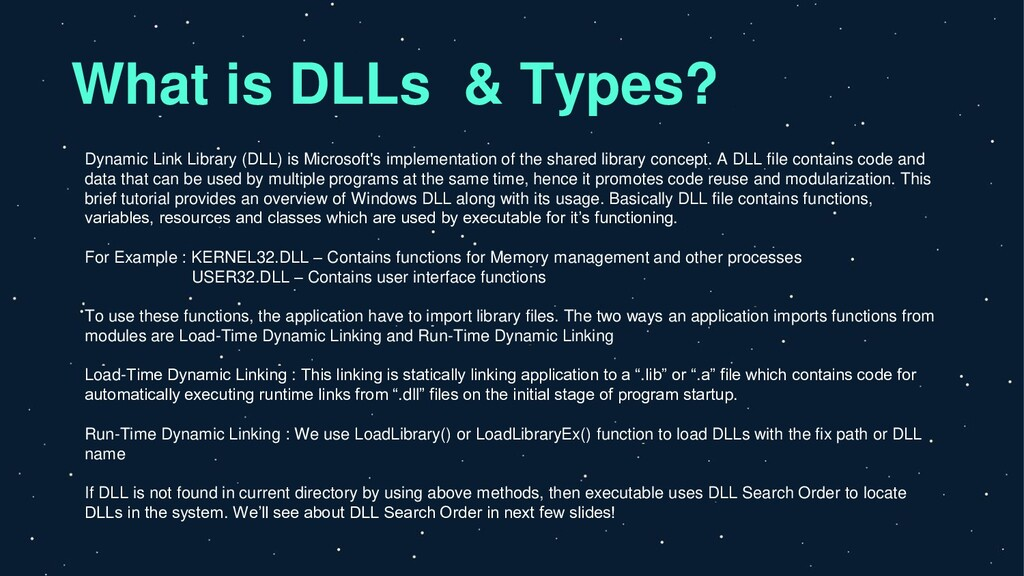 What is DLLs & Types? Dynamic Link Library (DLL...