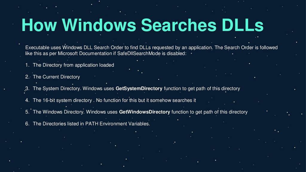 How Windows Searches DLLs Executable uses Windo...