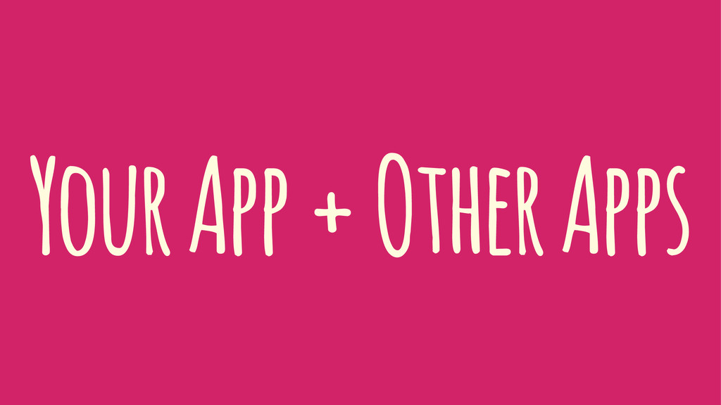 Your App + Other Apps