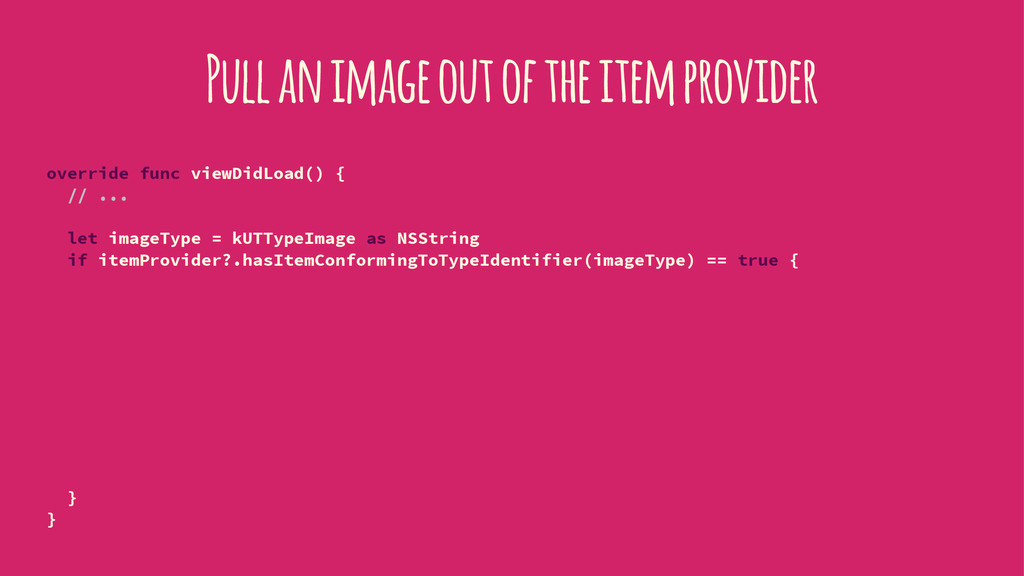 Pull an image out of the item provider override...