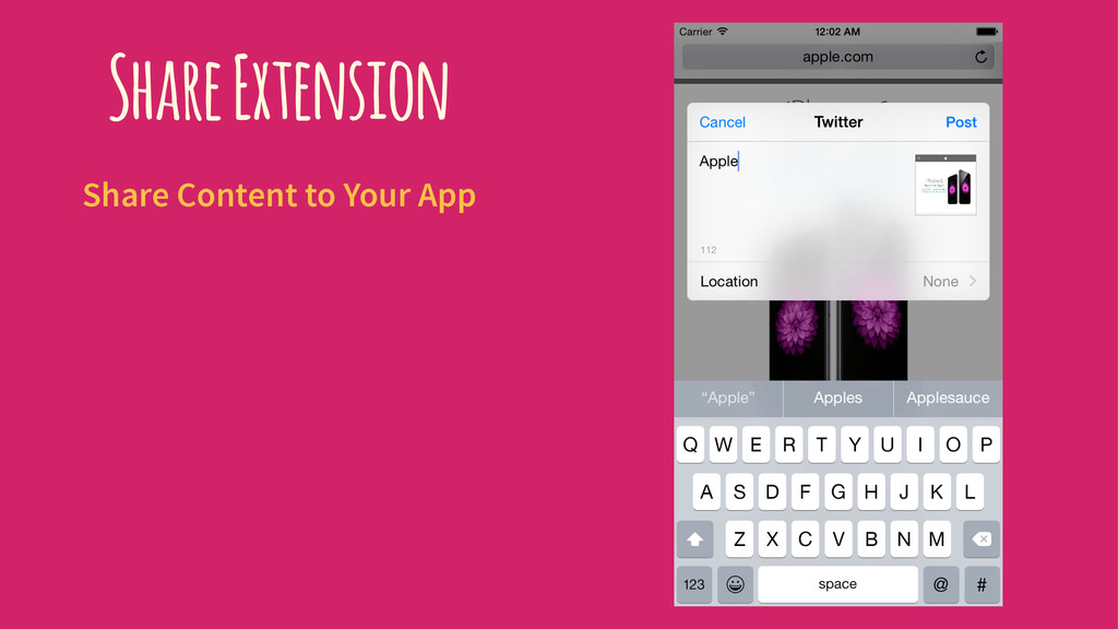 Share Extension Share Content to Your App