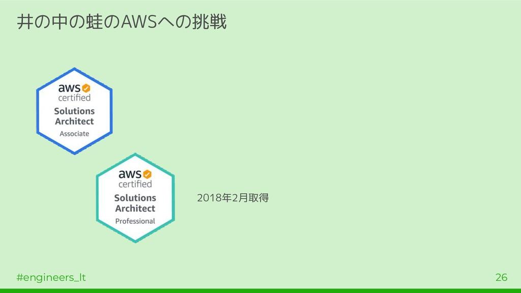 #engineers_lt 26 井の中の蛙のAWSへの挑戦 2018年2月取得
