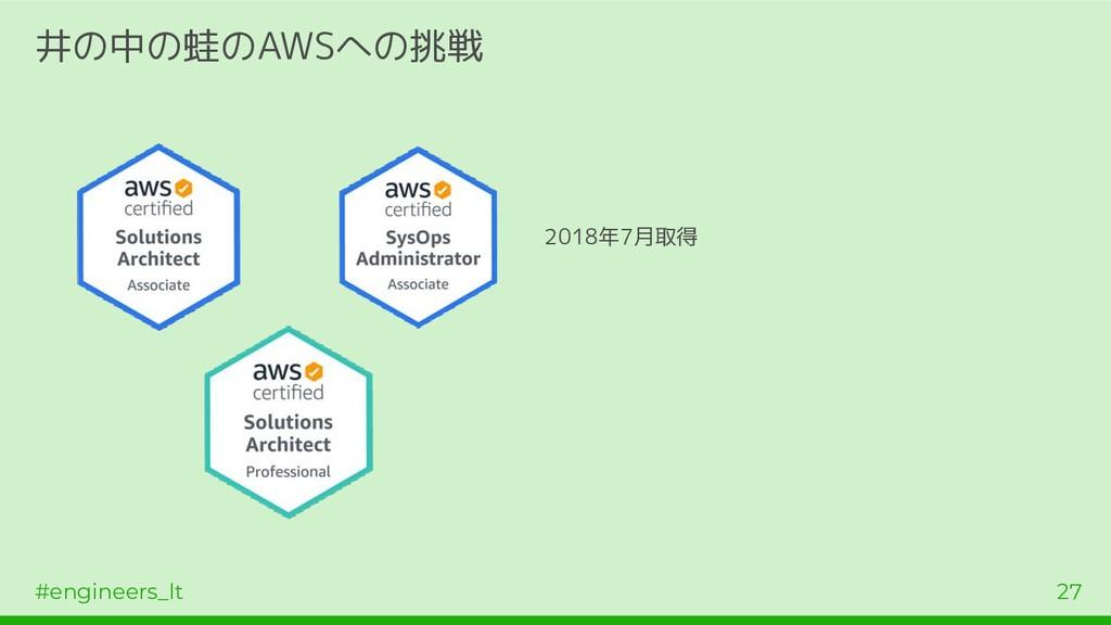 #engineers_lt 27 井の中の蛙のAWSへの挑戦 2018年7月取得
