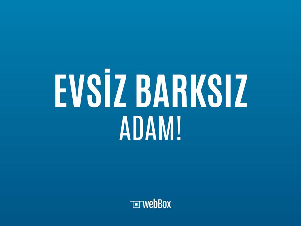 EVSİZ BARKSIZ ADAM!
