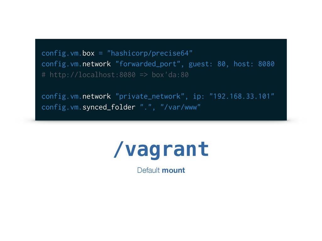 """config.vm.box = """"hashicorp/precise64"""" config.vm..."""