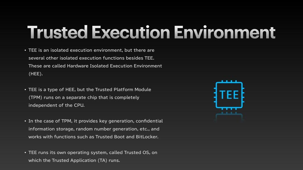 Trusted Execution Environment w 5&&JTBOJTPMB...