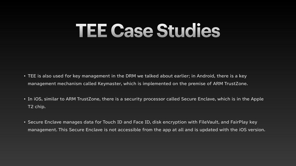 TEE Case Studies w 5&&JTBMTPVTFEGPSLFZNBO...