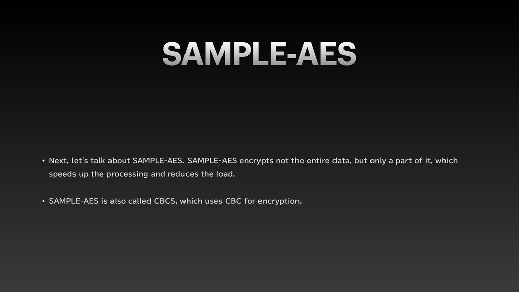 "SAMPLE-AES w /FYUMFUTUBMLBCPVU4"".1-&""&4..."