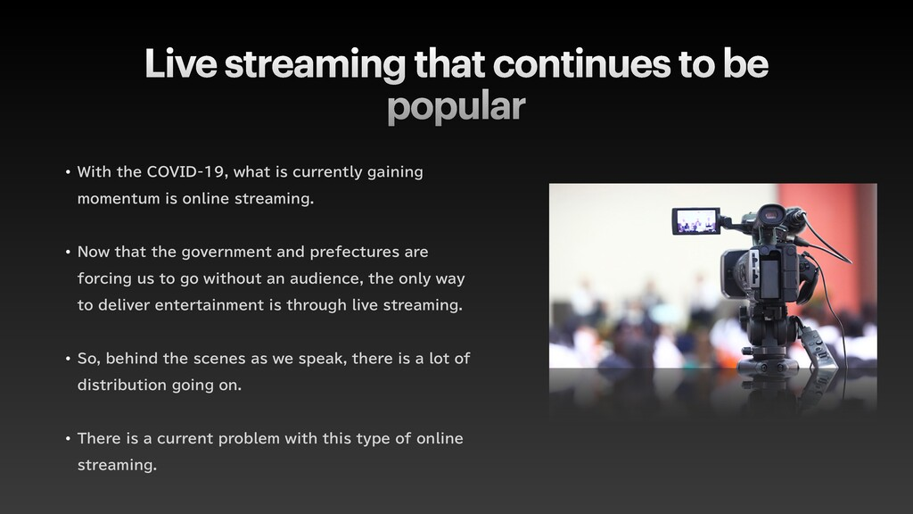 Live streaming that continues to be popular w 8...