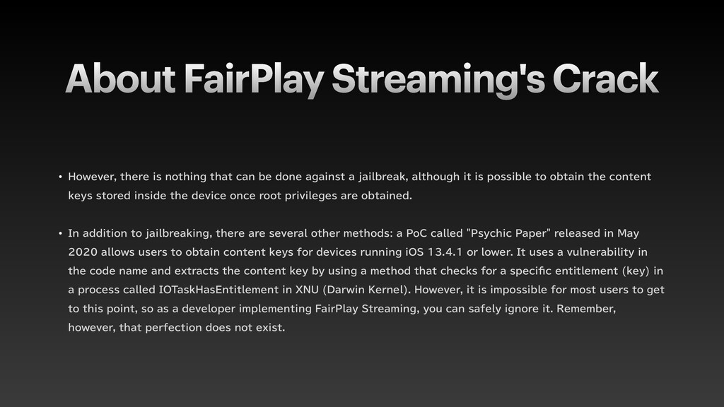 About FairPlay Streaming's Crack w )PXFWFSUIF...