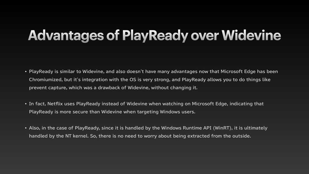 Advantages of PlayReady over Widevine w 1MBZ3FB...