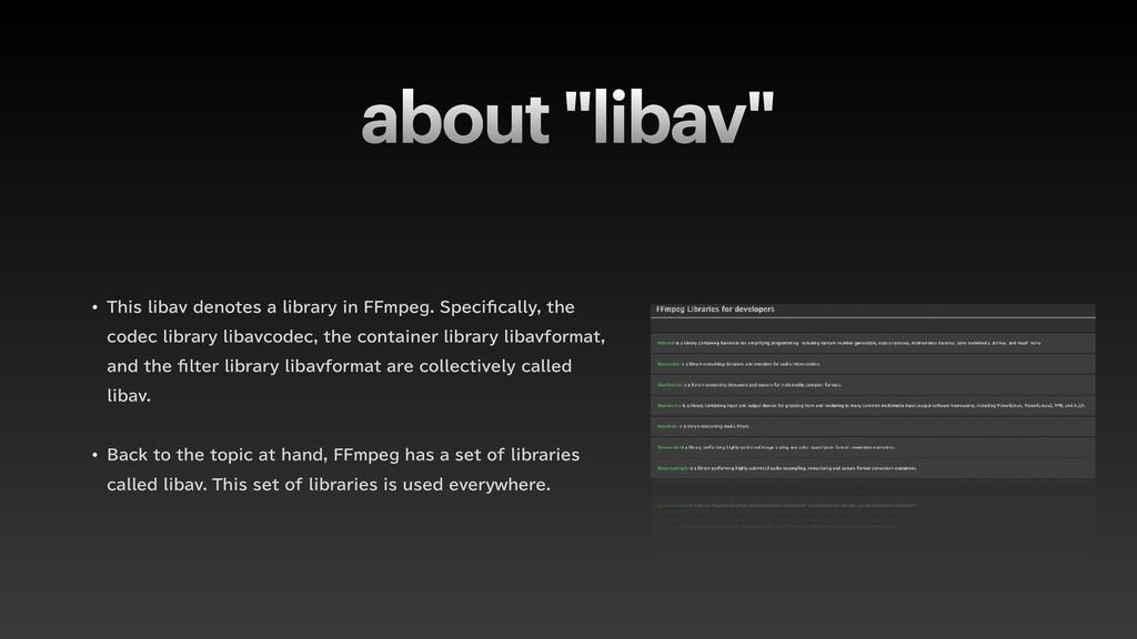 """about """"libav"""" w 5IJTMJCBWEFOPUFTBMJCSBSZJO..."""