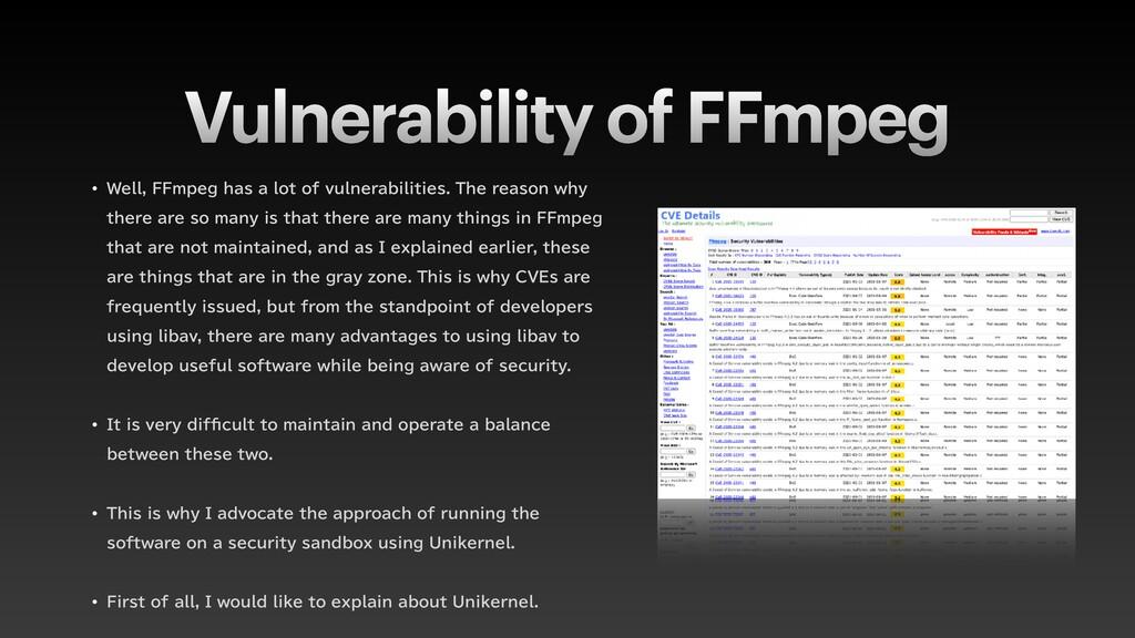 Vulnerability of FFmpeg w 8FMM''NQFHIBTBMP...