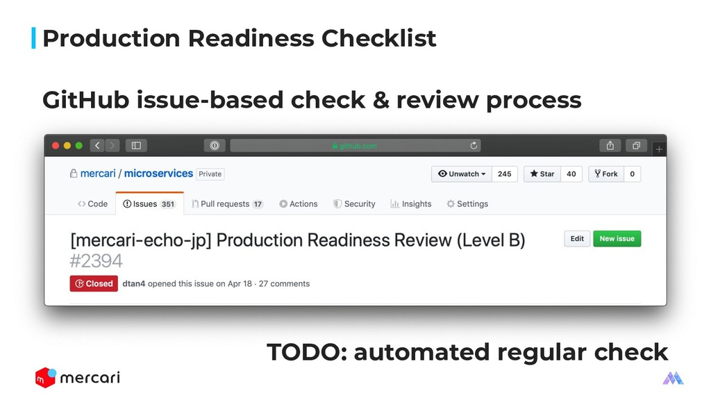 Production Readiness Checklist TODO: automated ...