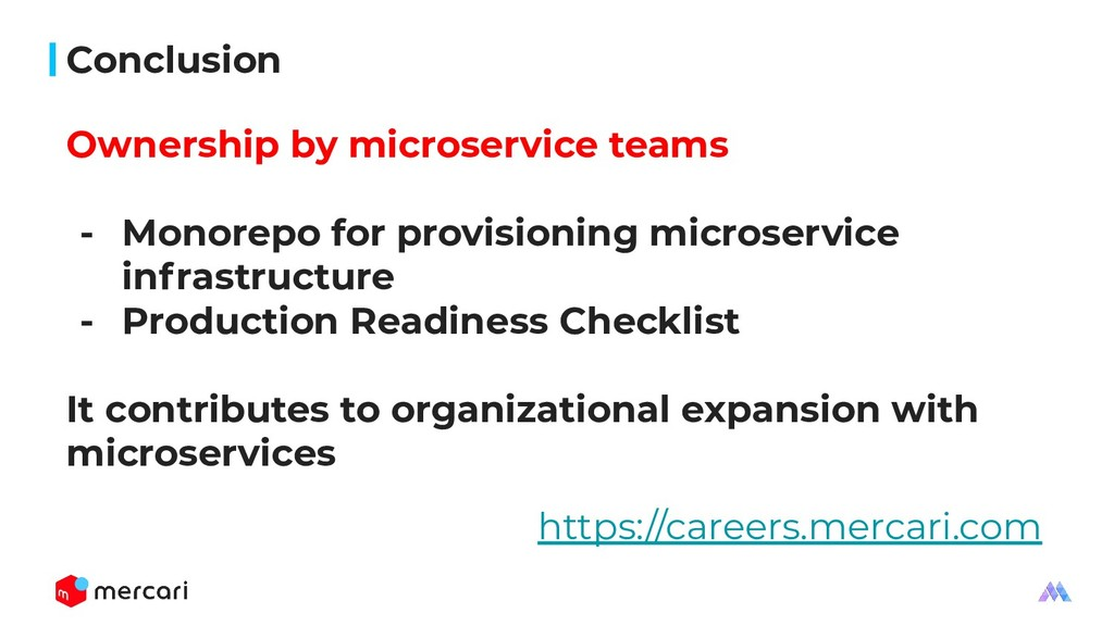 Conclusion Ownership by microservice teams - Mo...