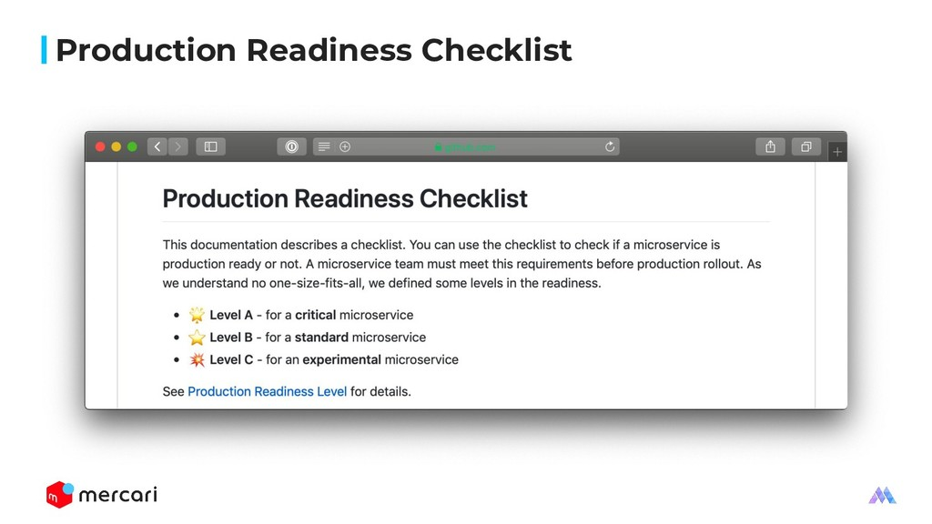 Production Readiness Checklist