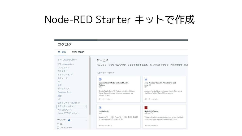 Node-RED Starter キットで作成