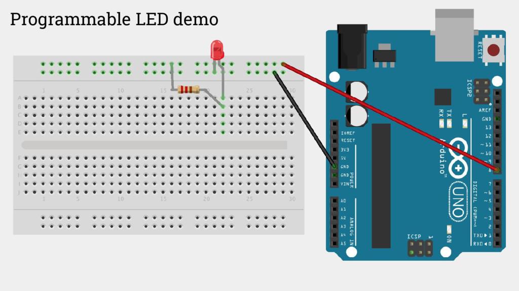 Programmable LED demo