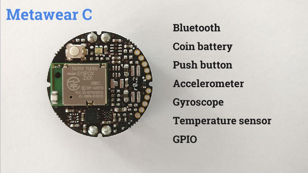 Bluetooth Coin battery Push button Acceleromete...