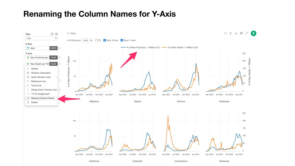 Renaming the Column Names for Y-Axis