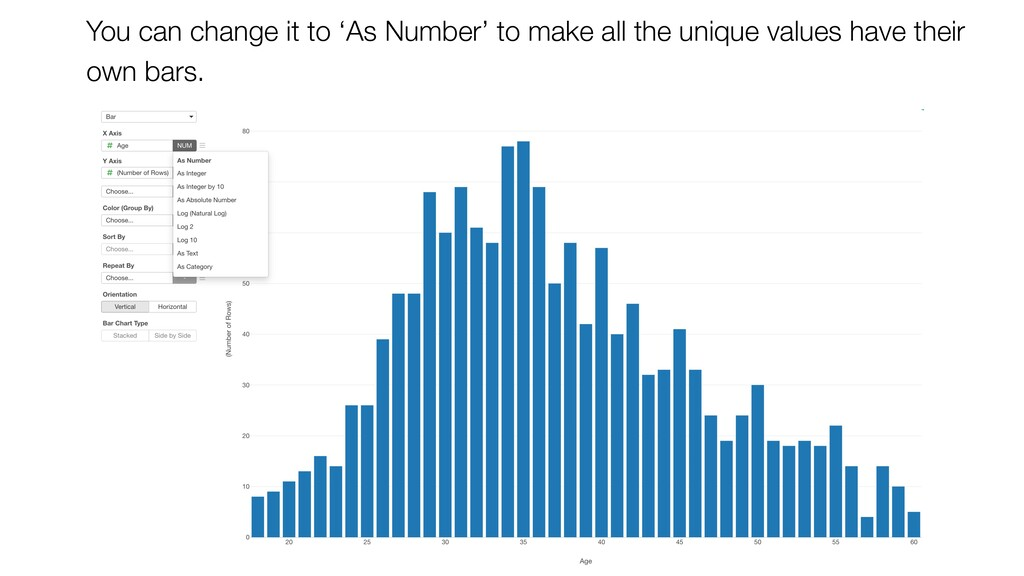 You can change it to 'As Number' to make all th...