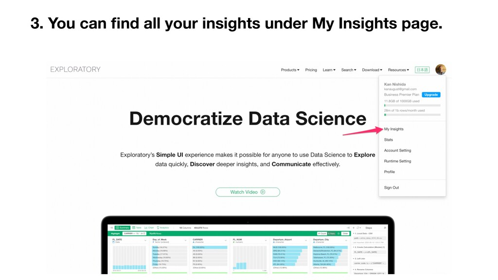3. You can find all your insights under My Insig...