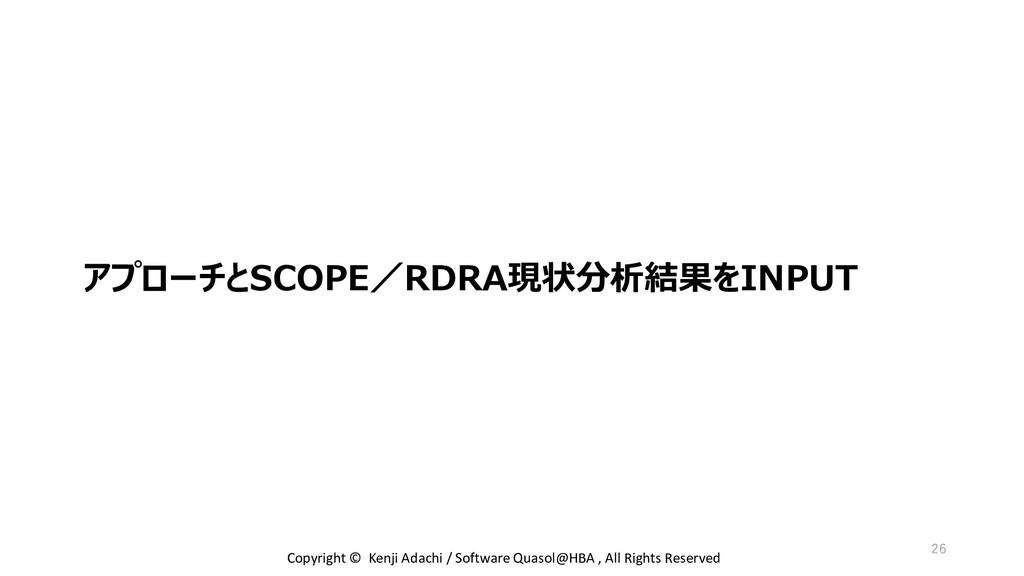 アプローチとSCOPE/RDRA現状分析結果をINPUT Copyright © Kenji ...