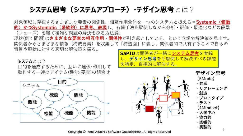 システム システム思考(システムアプローチ)・デザイン思考とは? 対象領域に存在するさまざまな...