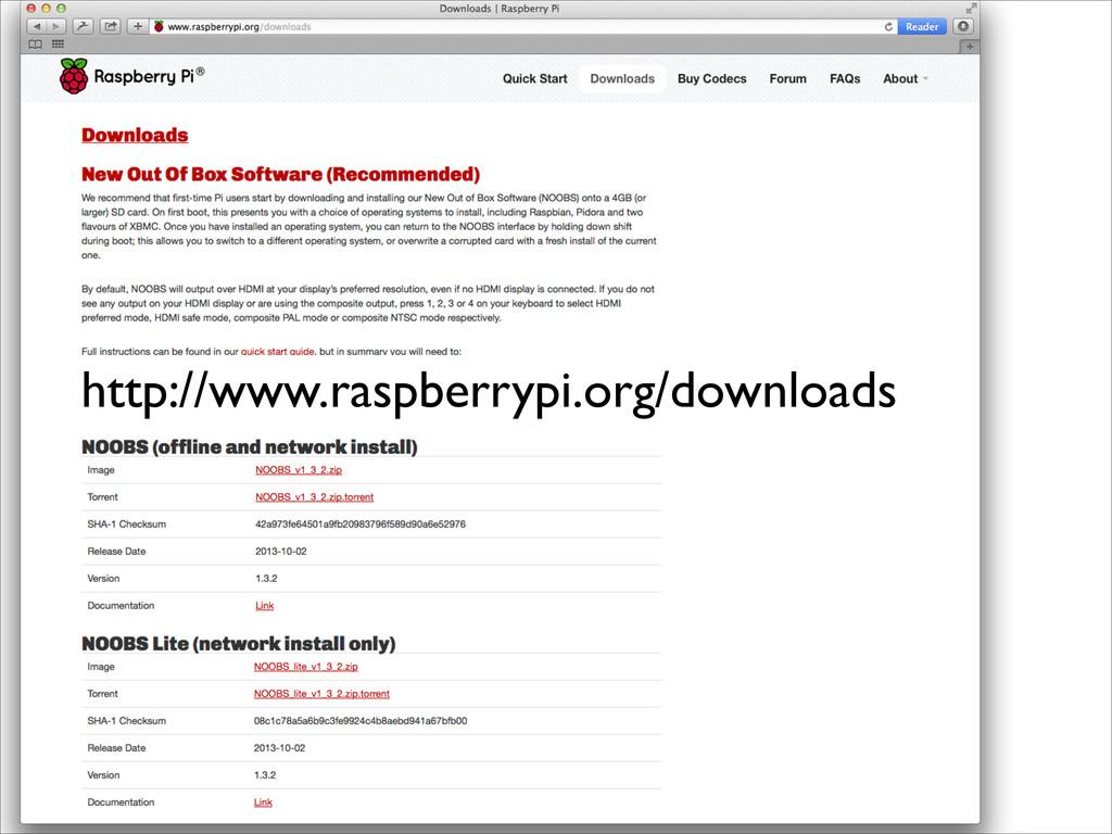 http://www.raspberrypi.org/downloads