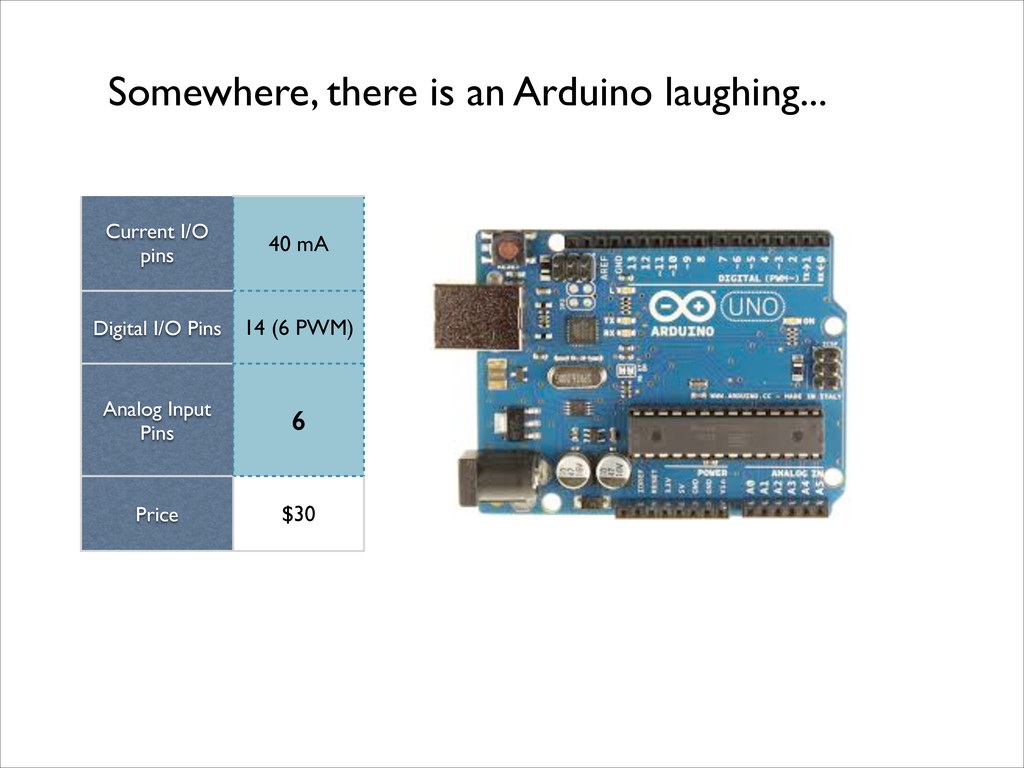 Somewhere, there is an Arduino laughing... Curr...