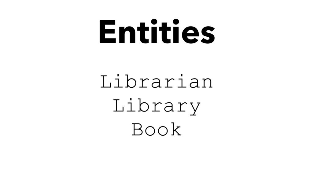 Librarian Library Book Entities