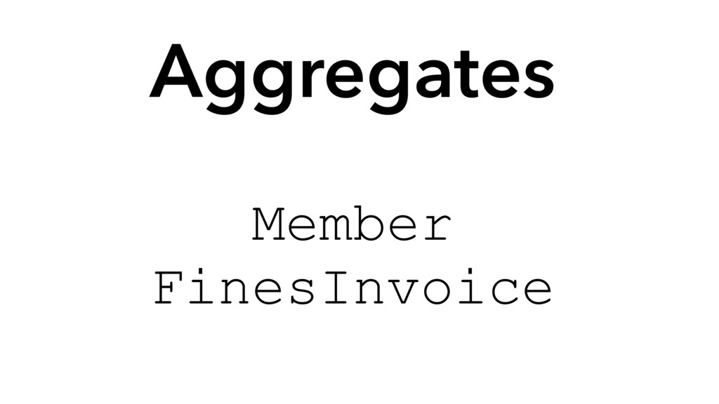 Aggregates Member FinesInvoice