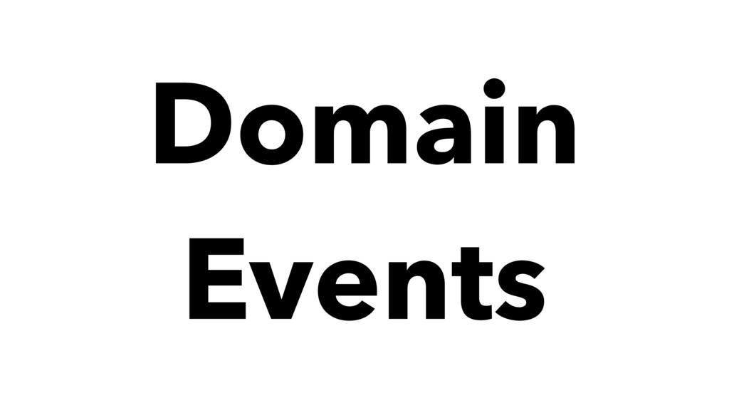 Domain Events