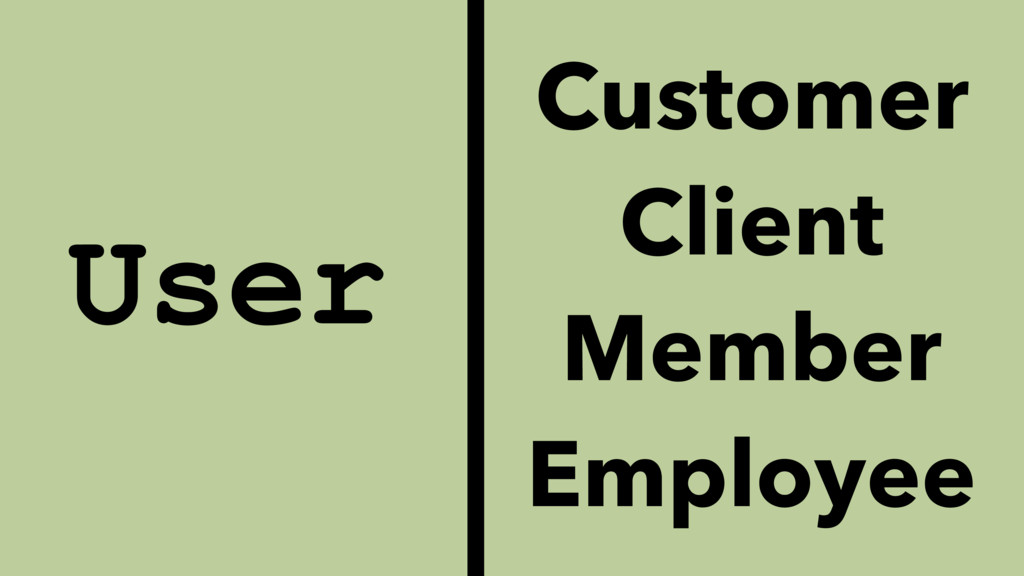 User Customer Client Member Employee