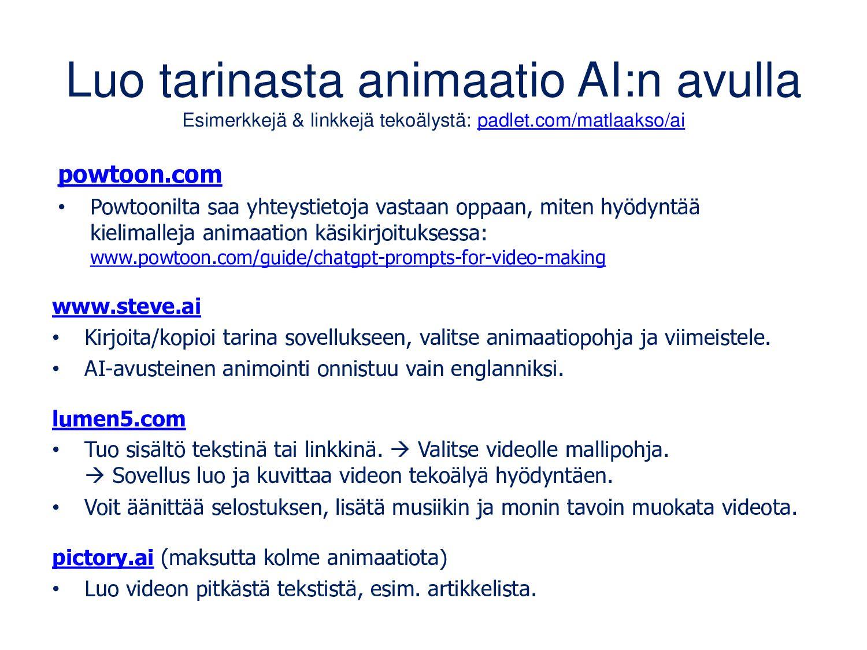 biteable.com Selaimella (myös mobiilisti) toimi...