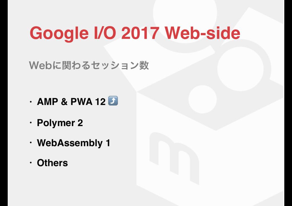 Google I/O 2017 Web-sideɹ • AMP & PWA 12 ⤴ • Po...