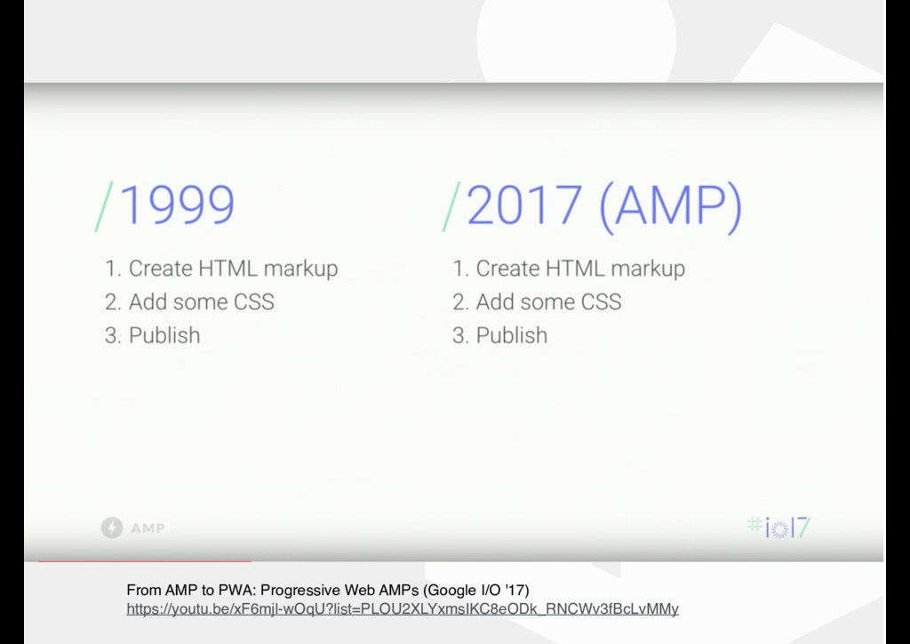 From AMP to PWA: Progressive Web AMPs (Google I...