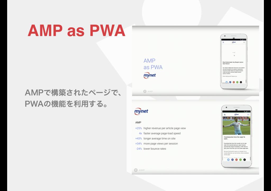 """.1Ͱߏங͞ΕͨϖʔδͰɺ 18""ͷػΛར༻͢Δɻ AMP as PWA"