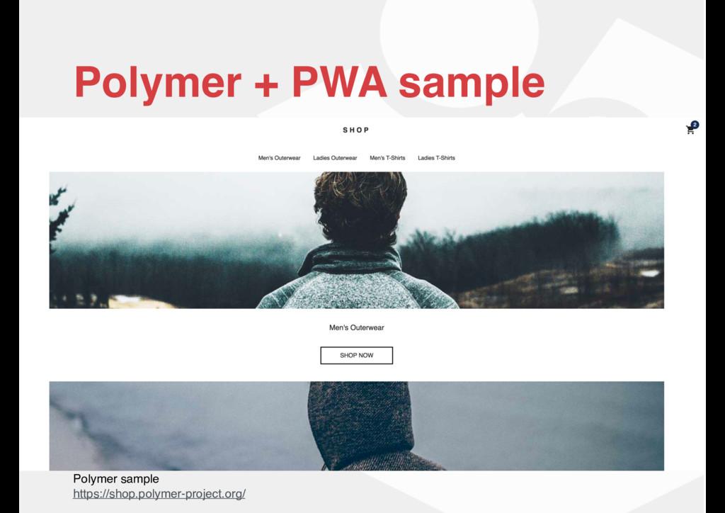 Polymer + PWA sample Polymer sample https://sho...