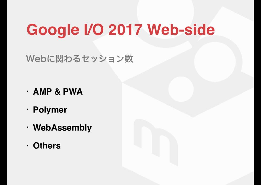 Google I/O 2017 Web-sideɹ • AMP & PWA • Polymer...
