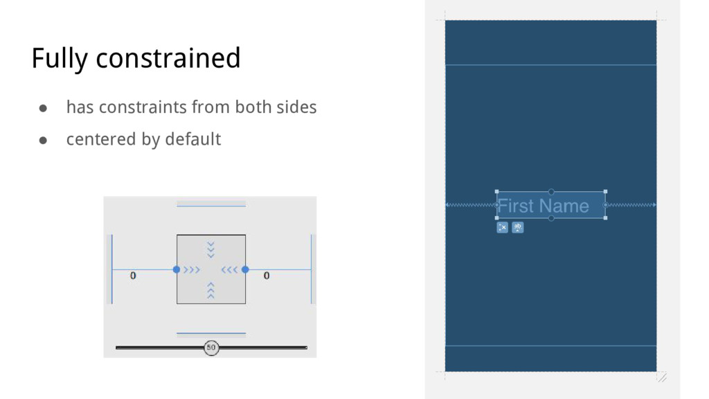 Fully constrained ● has constraints from both s...